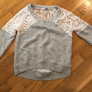 Vintage Havana lace/sweat spring shirt S